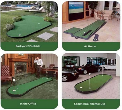 The best news is all our modular greens come equipped with our exclusive  NP50 turf, the best synthetic putting surface available.